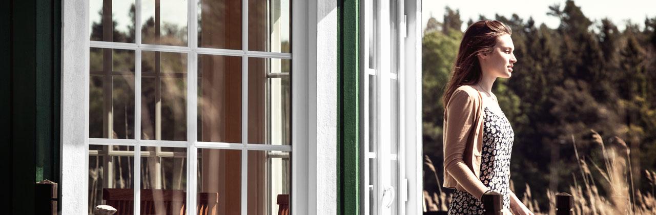 PVC fönster i lusthus