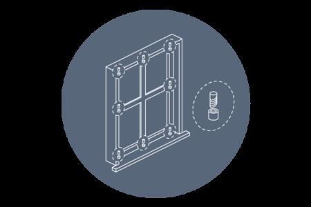 PVC fönster med nio låspunkter