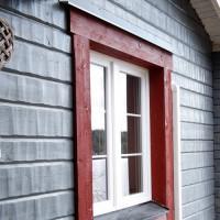 PVC Fönster på Trähus
