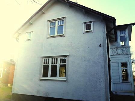 Träfönster fasad