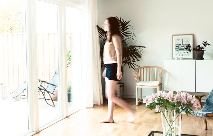 Glasvägg i vardagsrum