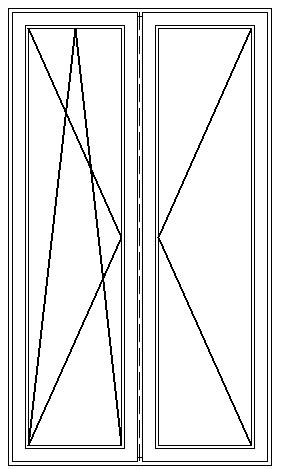 PVC Fönsterdörr inåtgående dubbel