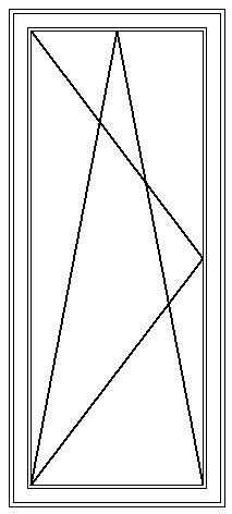 PVC Fönsterdörr inåtgående enkel