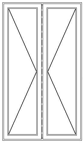 PVC Fönsterdörr utåtgående dubbel