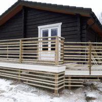 Fönsterdörr i villa i Svanskog