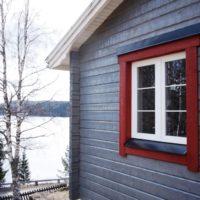 PVC fönster i trähus - Kramfors